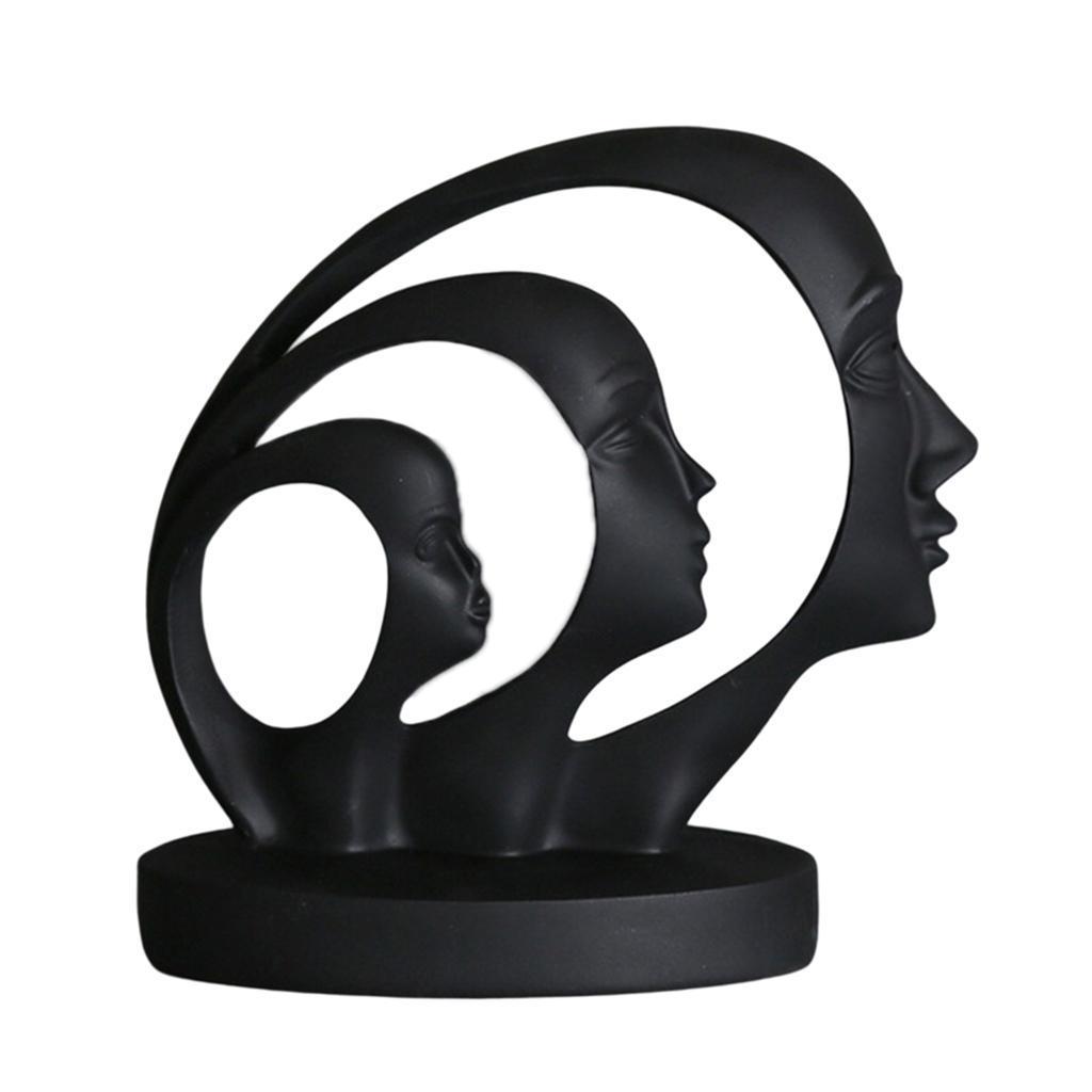 miniatura 24 - Arte Astratta Viso Scultura Statua Ufficio Tavolo In Resina Ornamenti di