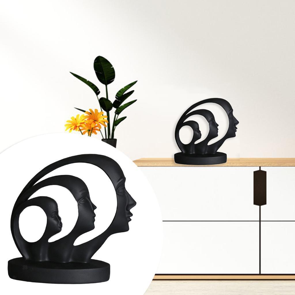 miniatura 21 - Arte Astratta Viso Scultura Statua Ufficio Tavolo In Resina Ornamenti di