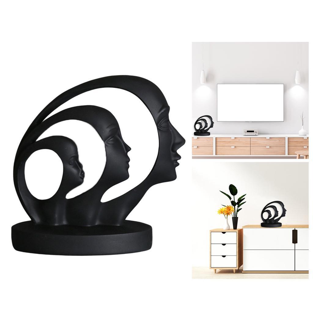 miniatura 16 - Arte Astratta Viso Scultura Statua Ufficio Tavolo In Resina Ornamenti di