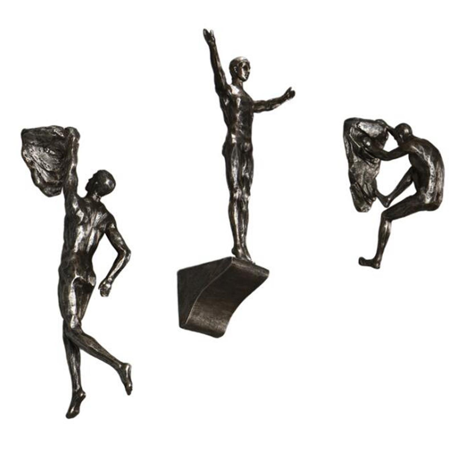 miniatura 57 - Arrampicata Su roccia Figurine Uomo Scalatore Appeso Statua di Attaccatura
