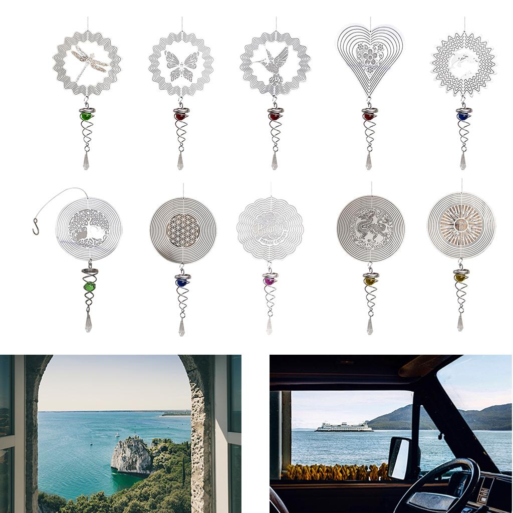 Outdoor 3D Hanging Wind Spinner with Hook Wind Chime Yard Decoration Crafts