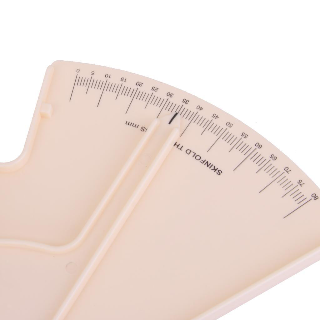 Fat Loss Guide Skinfold Calipers Analyzer Slim Fitness Measurement Beige