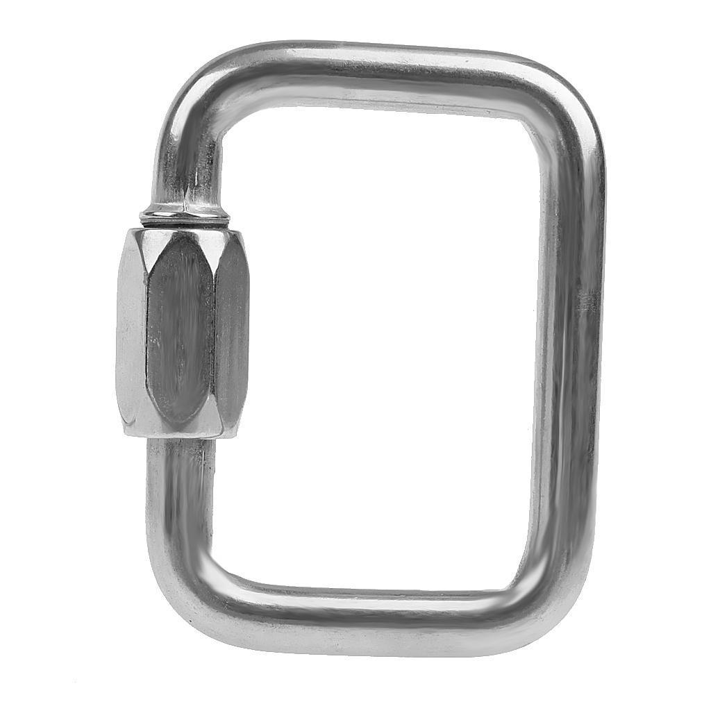 Indexbild 10 - Rechteckig-Paragliding-Karabiner-Screw-Lock-Carabiner-Edelstahl