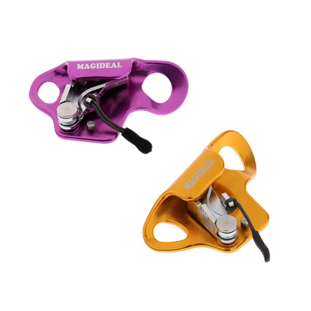 Bloqueur-En-Aluminium-Support-Corde-D-039-escalade-Grimpe-Outil-De-Securite-Grimpeur miniature 4