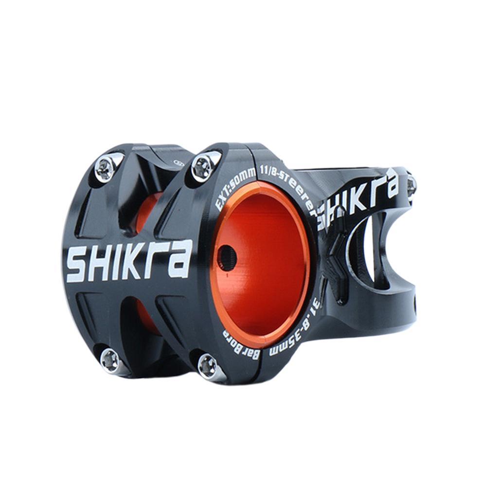 For MTB Bike Aluminum Alloy Short Handlebar Stem 50mm Rise Fixed 31.8mm US
