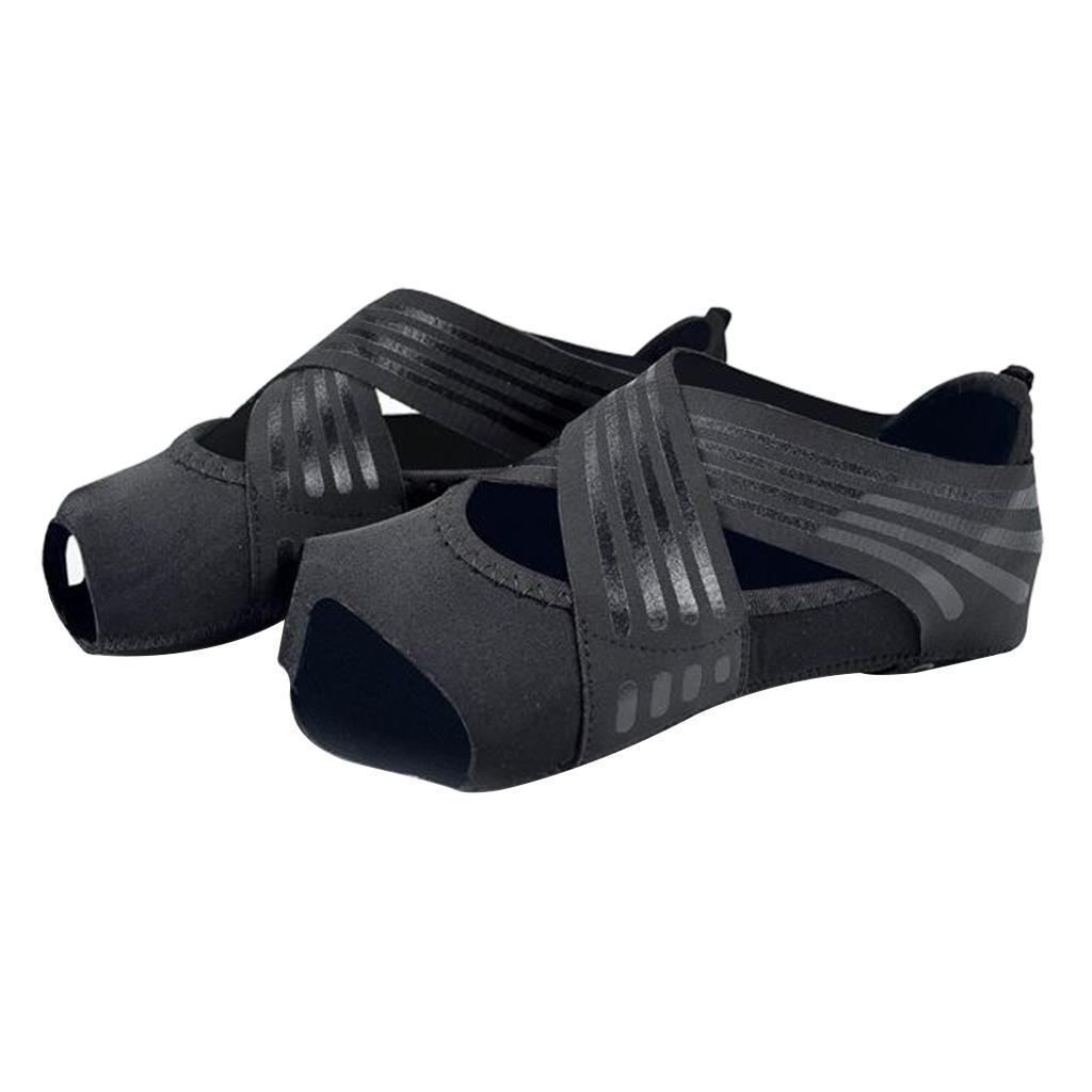 miniatura 80 - 1 Pair Delle Donne di Ballo di Formazione di Yoga Pilates Grip Calzini