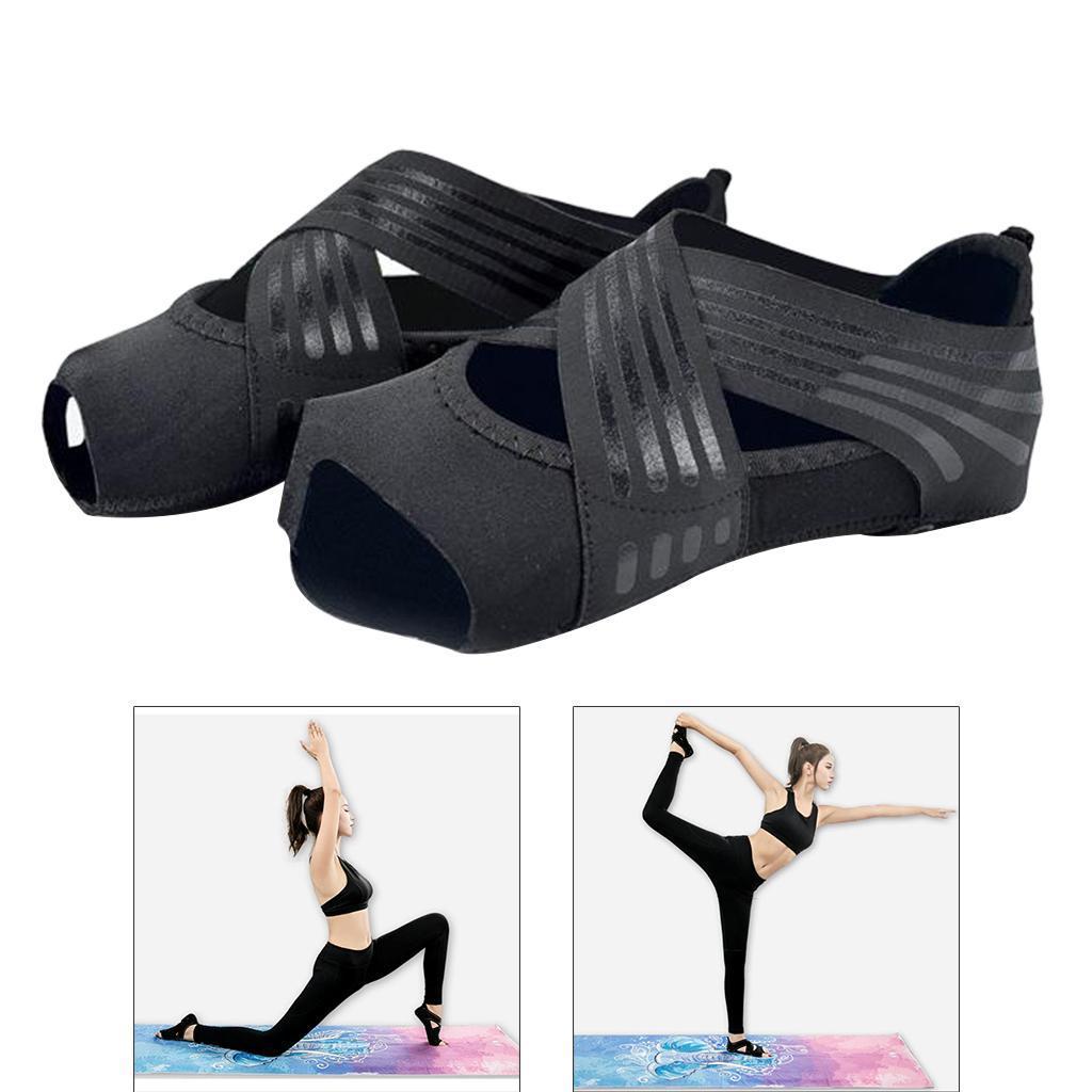 miniatura 78 - 1 Pair Delle Donne di Ballo di Formazione di Yoga Pilates Grip Calzini