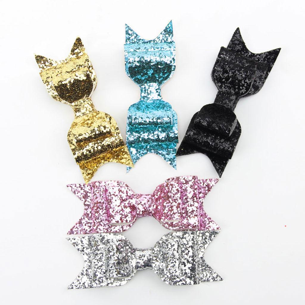 miniatura 11 - Ragazza Donna Capelli Clip Bow Glitter Cappelli Accessori - Multi Colori