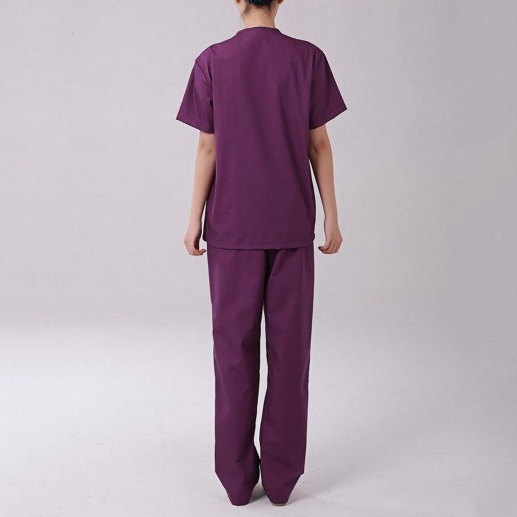 Men-Women-Scrub-Sets-Medical-Spa-Nursing-Clinic-Hospital-Uniform-Top-Pants miniature 7