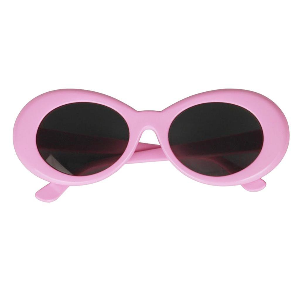 thumbnail 6 - Novelty-Oval-Mod-Thick-Sunglasses-Clout-Goggles-Sun-Protection-Unisex