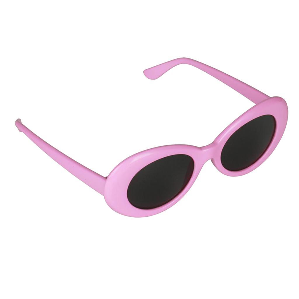 thumbnail 7 - Retro-Kurt-Cobain-Glasses-Clout-Goggles-Sunglasses-Oval-Bold-Mod-Thick-Frame