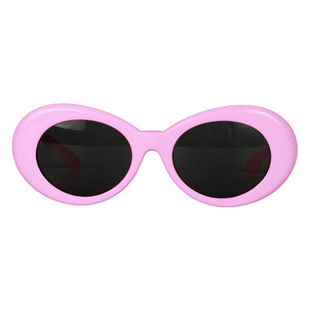 thumbnail 6 - Retro-Kurt-Cobain-Glasses-Clout-Goggles-Sunglasses-Oval-Bold-Mod-Thick-Frame