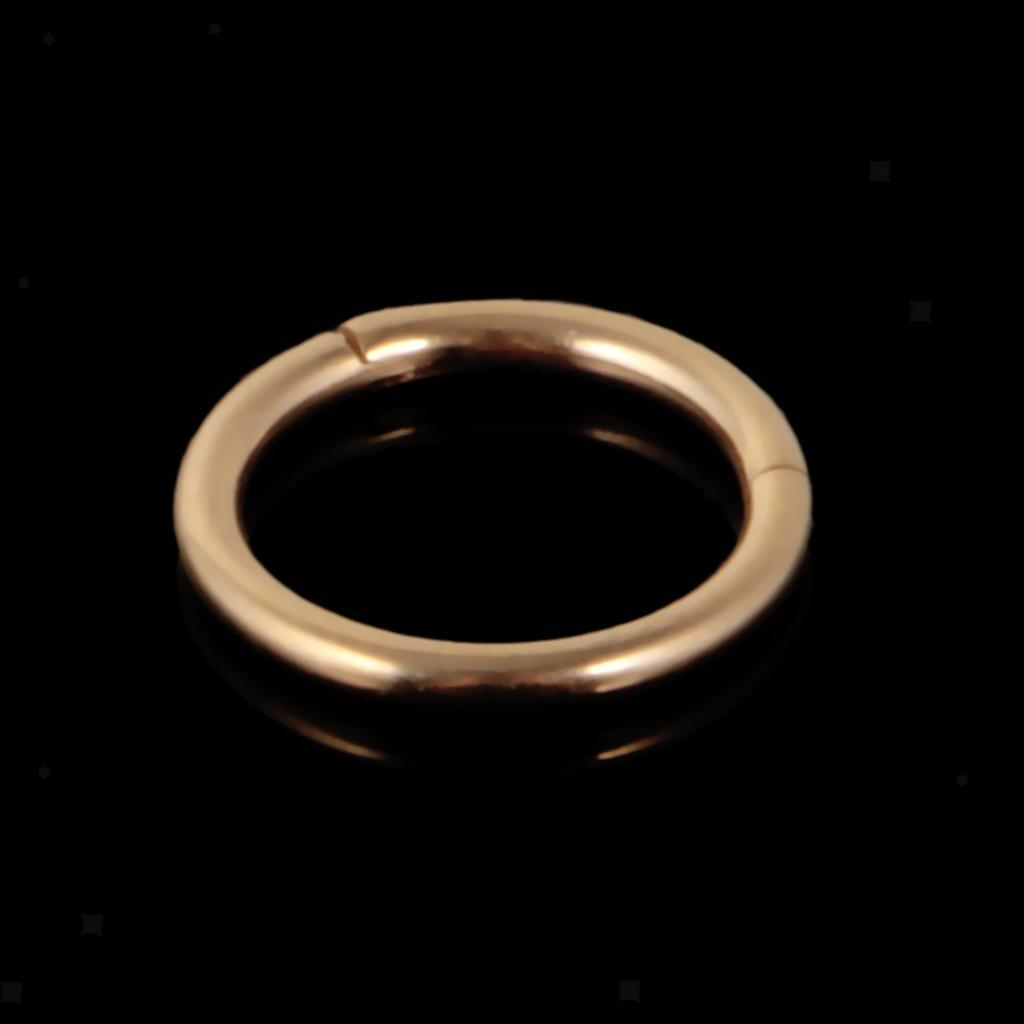 8mmx16g-Seamless-Hinged-Segment-Clicker-Ring-Hoop-Ear-Lip-Nose-Septum-Piercing thumbnail 7