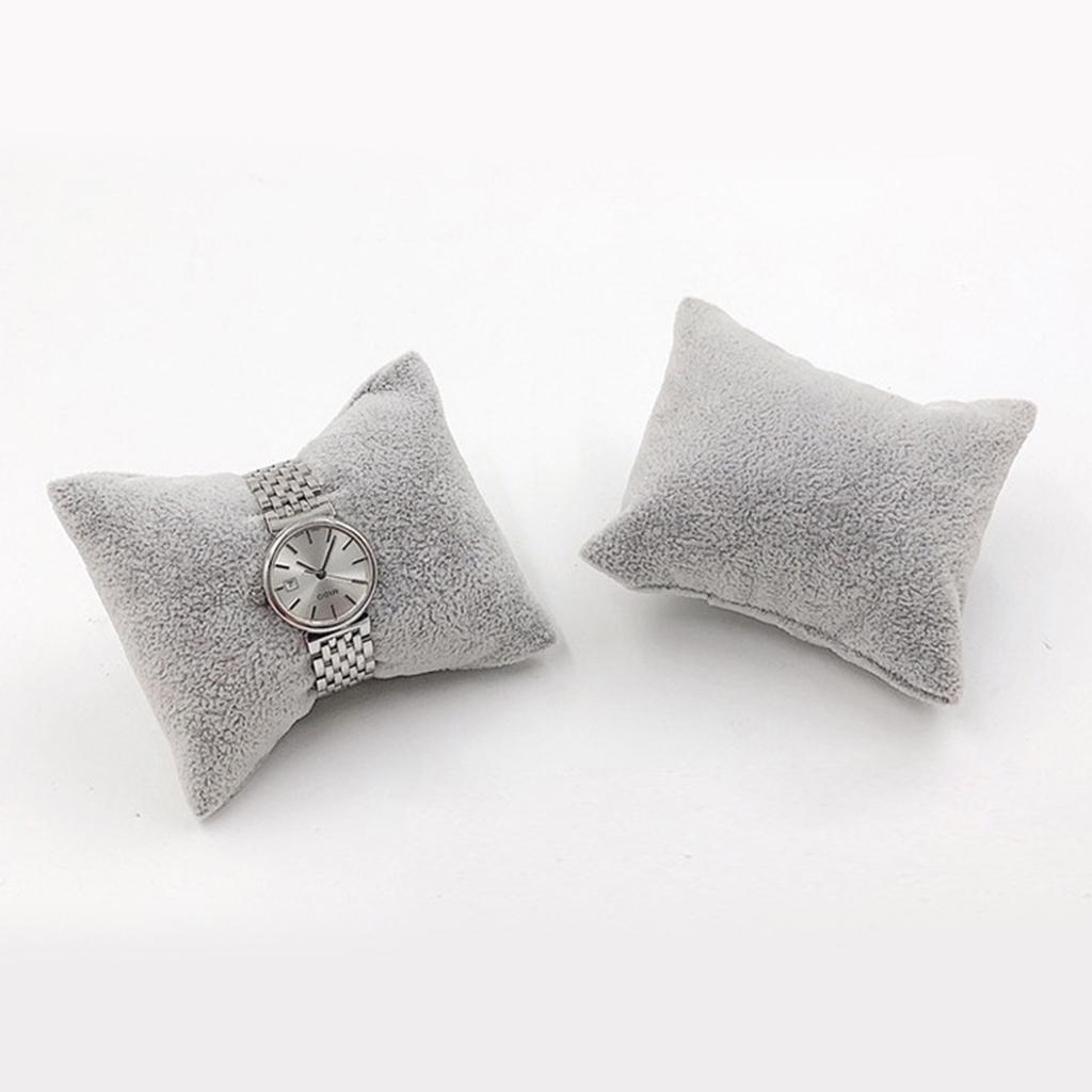 thumbnail 10 - Velvet Jewelry Display Pillow 8x7cm Mini Cushion Holder For Precious Watches