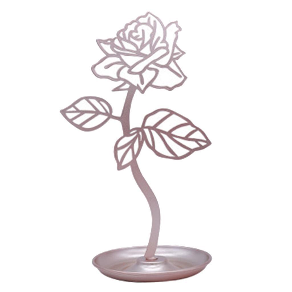 Earring Studs Hanger Holder Rose Flower Stand Jewelry Display Rack Household Ebay