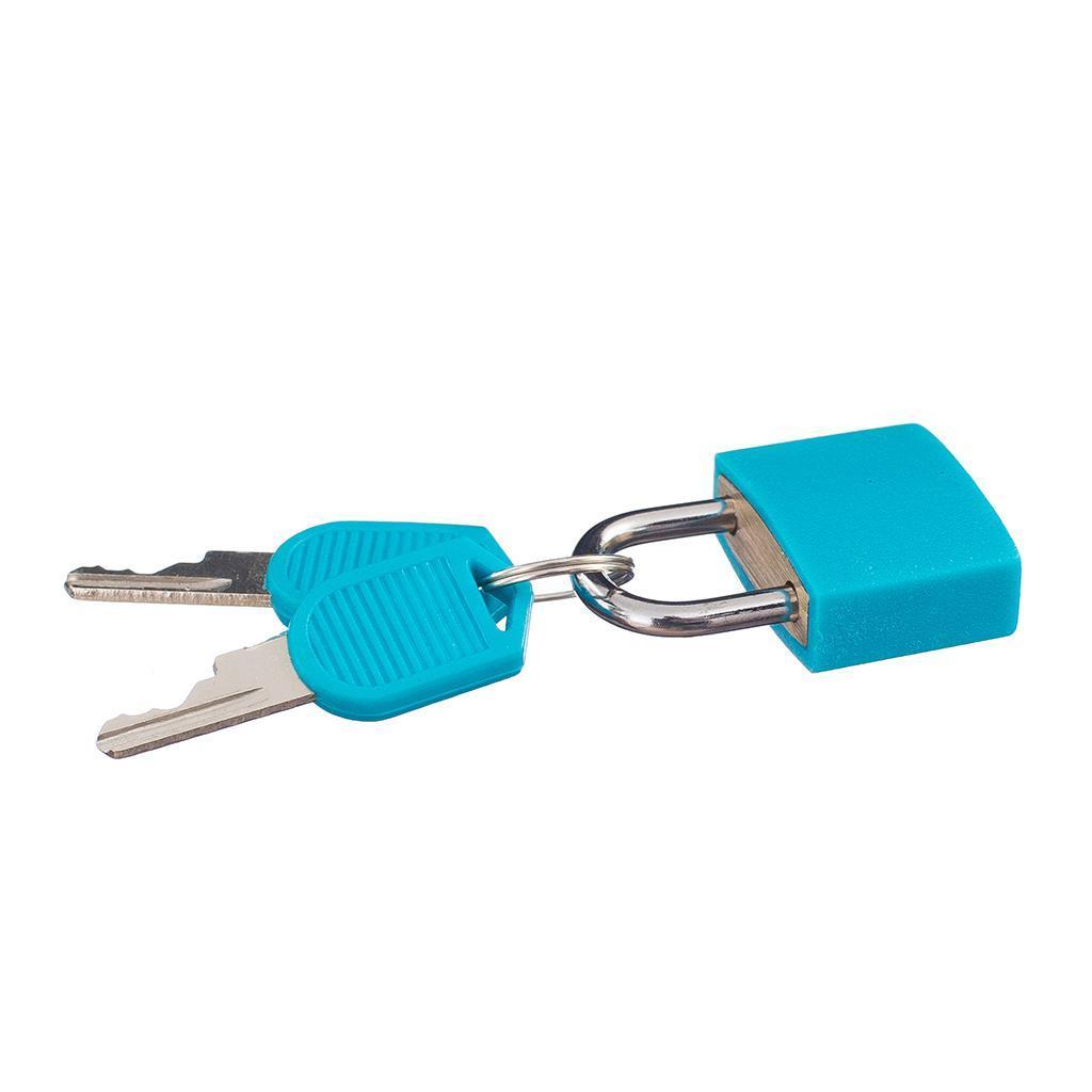 miniatura 4 - Lucchetto Piccolo Blocco Con 2 Chiavi Per Bagaglio Valigia Ventiquattrore