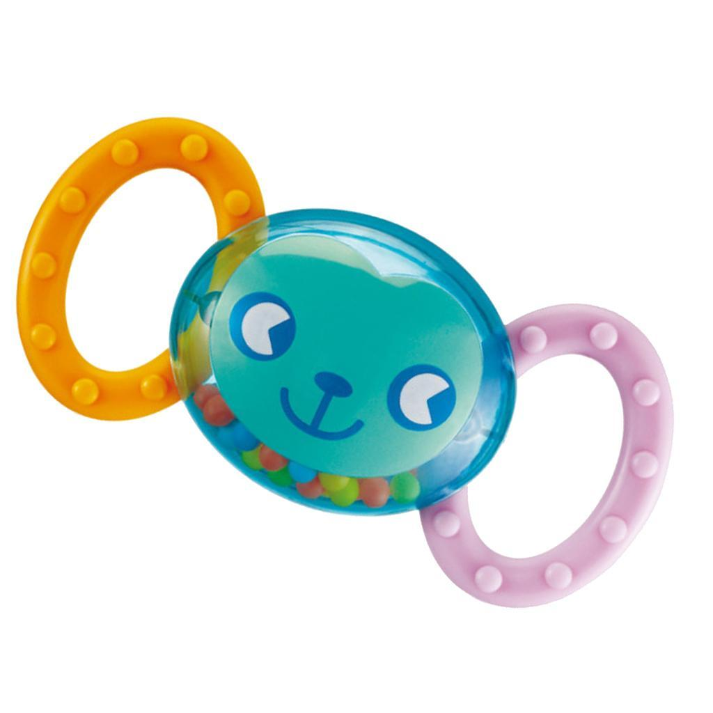 Scimmia-Sonagli-Massaggiagengive-Dentizione-Giocattolo-Regalo-per-Neonato miniatura 2