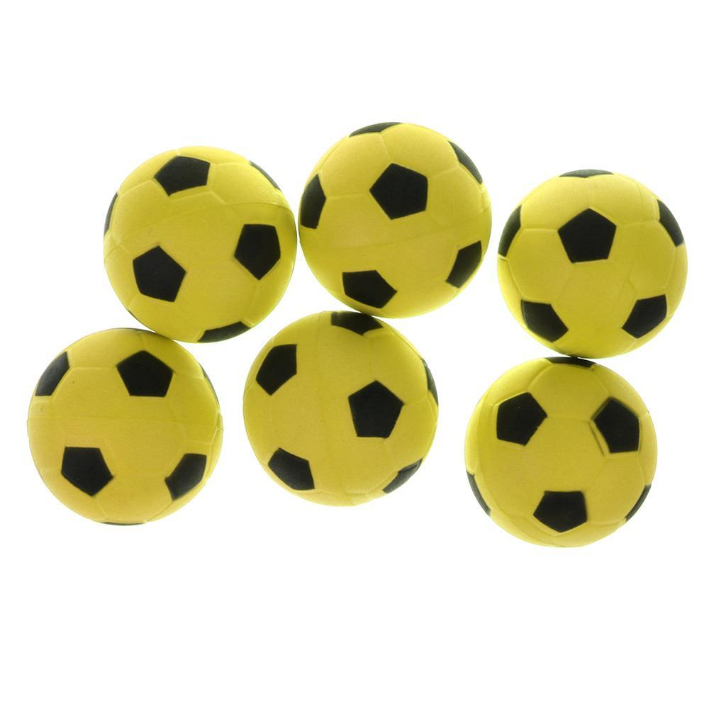 6.3cm Mini Soft Foam Sponge Football Outdoor /& Indoor Football Pack of 6