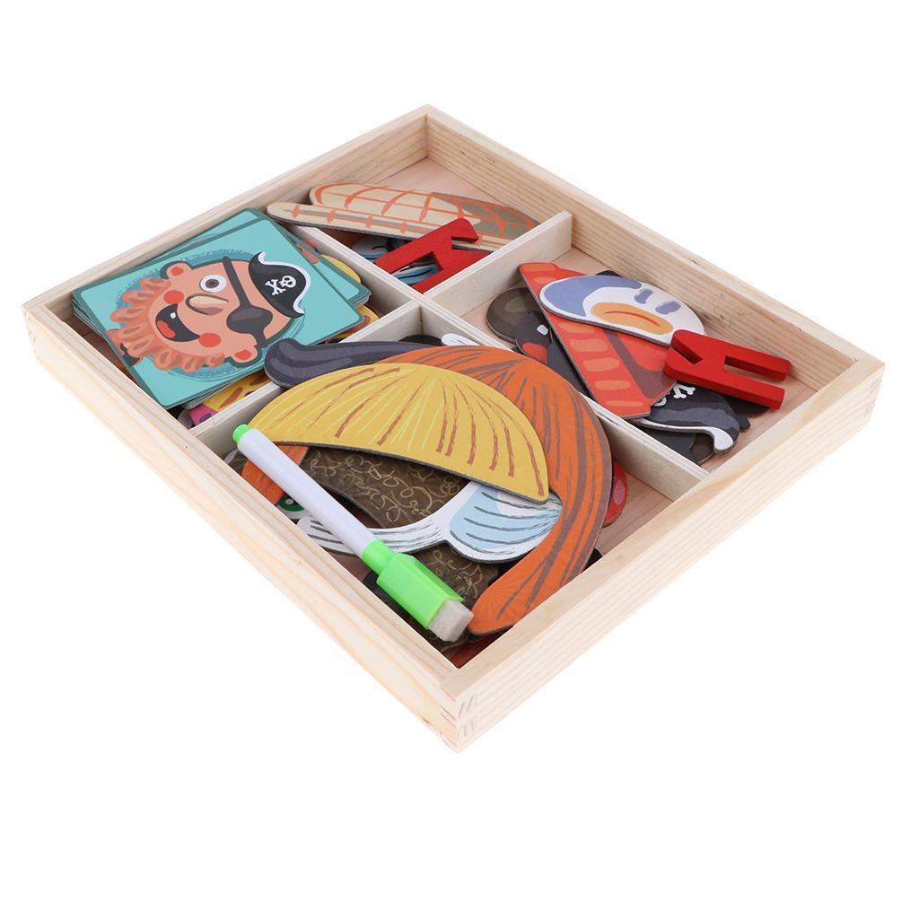 2 IN One Wooden Magnetic Jigsaw Puzzle & Writing Board Kid ...