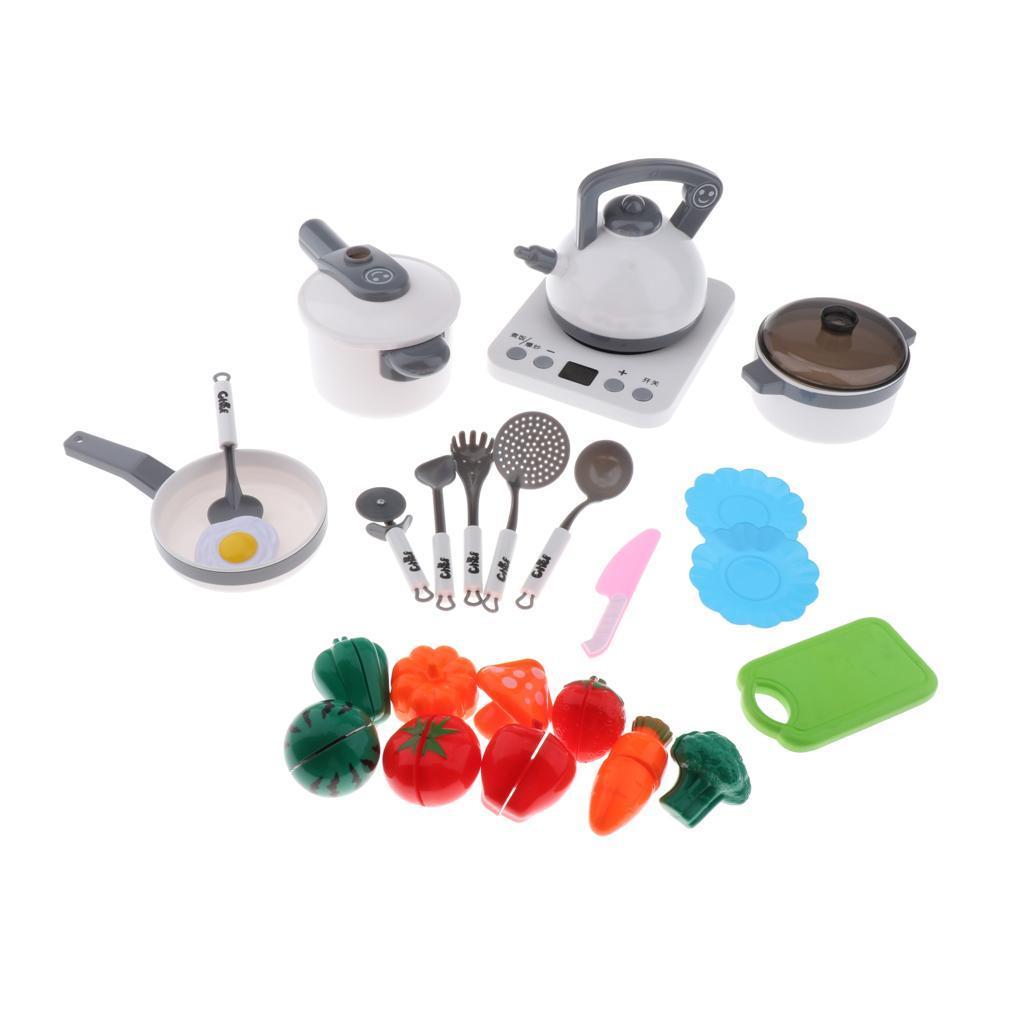 Kitchen-Pretend-Play-Accessories-Toys-Cookware-Set-Cooking-Utensils-for-Kids thumbnail 6
