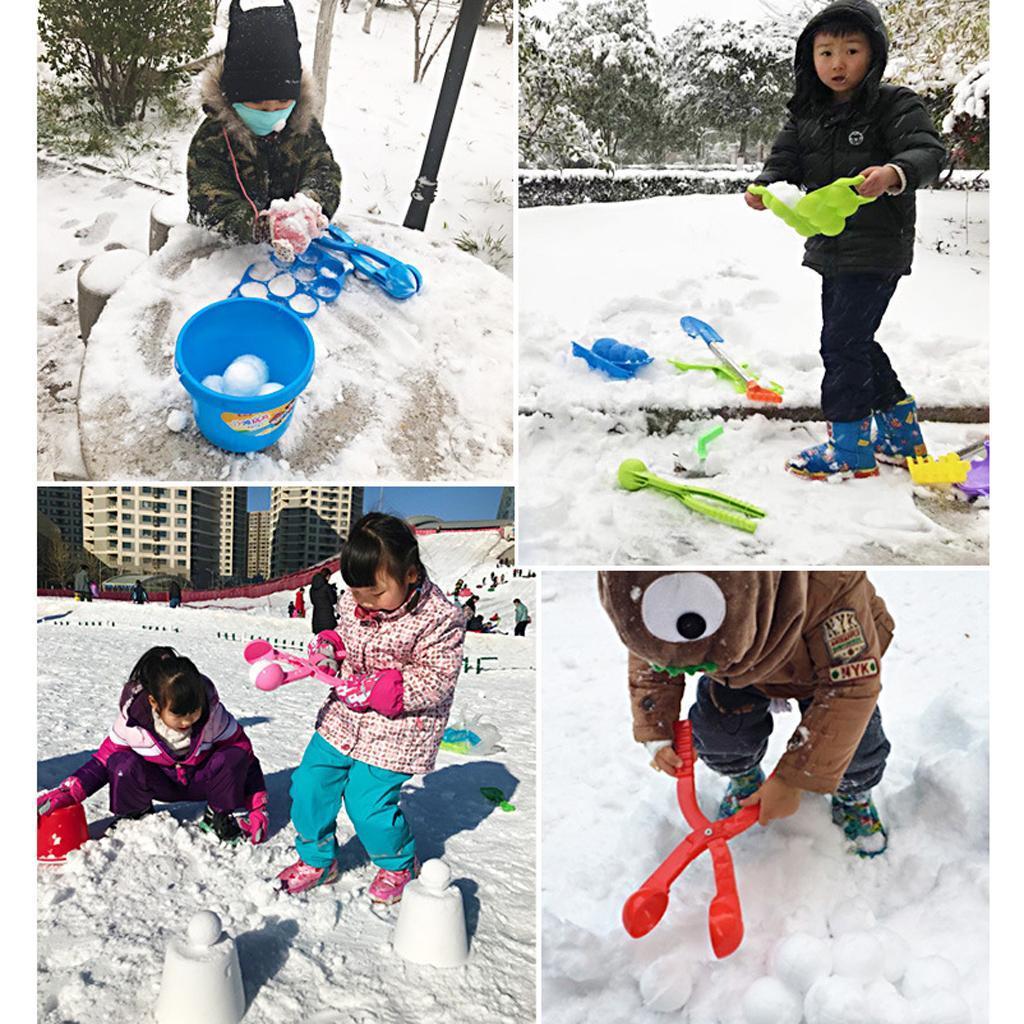 Innerternet Schneeball Maker Clip,Herz Schneeball Maker Spielzeug,Rot Winter Kunststoff Schneeball Herz Form,Kinder Schneeball Herzzange,Schneeball Herzform Schneespielzeug