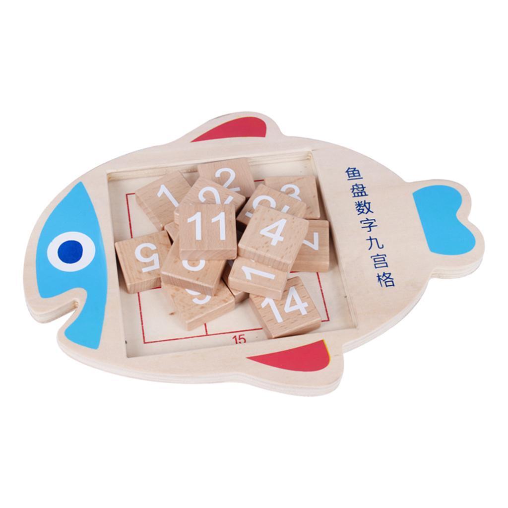 Jigsaw-Fish-Plate-Digital-Jigsaw-Toy-pour-enfants-Puzzle-Jouets-educatifs miniature 3
