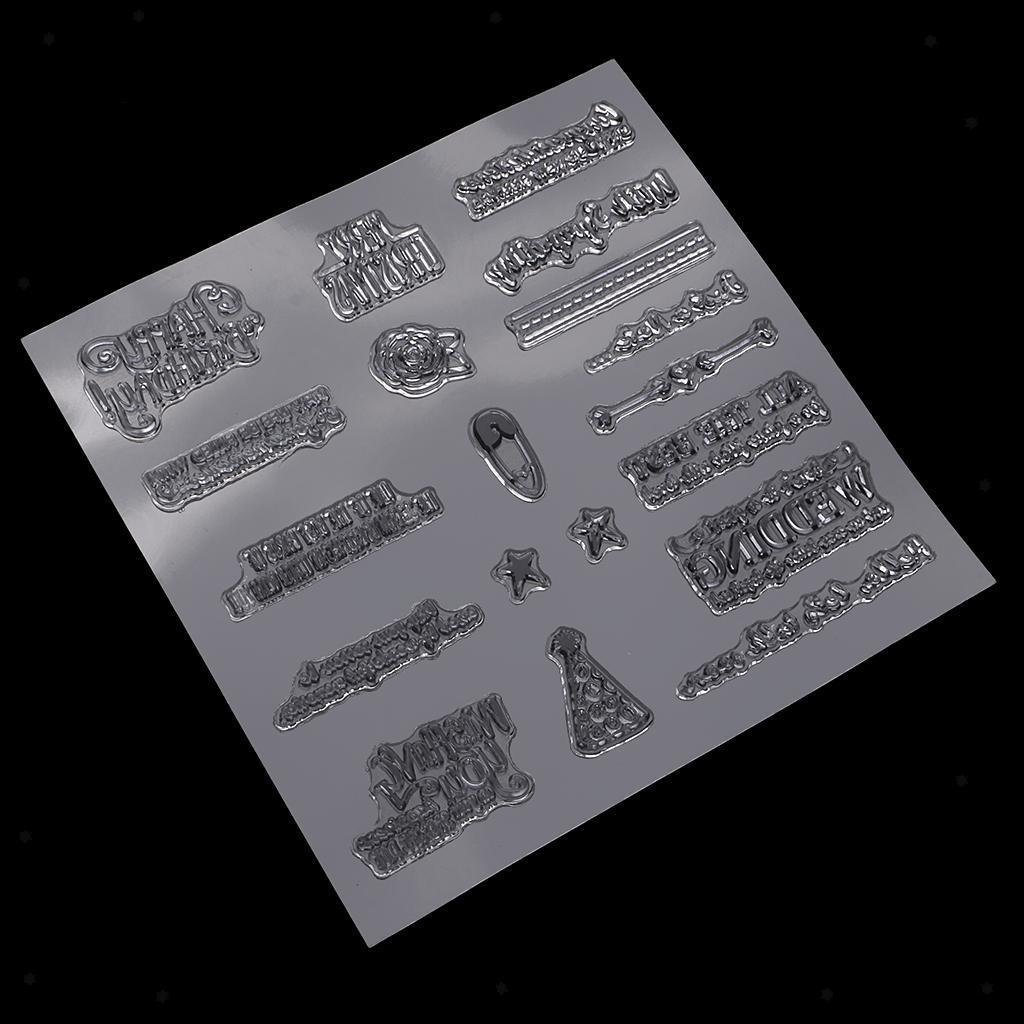 Transparente-Silikon-Gummidichtung-Stempelhaftung-fuer-DIY-Album-Diary-Scrapbook Indexbild 3