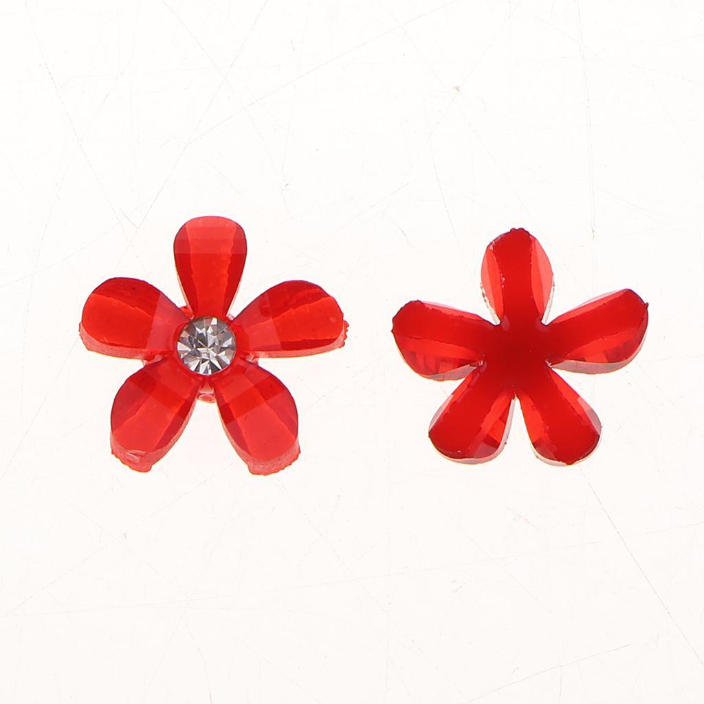 20-pcs-Blumen-Flatback-Perle-Strass-Flatback-Button-Kristall-Verzierung-Handwerk Indexbild 15