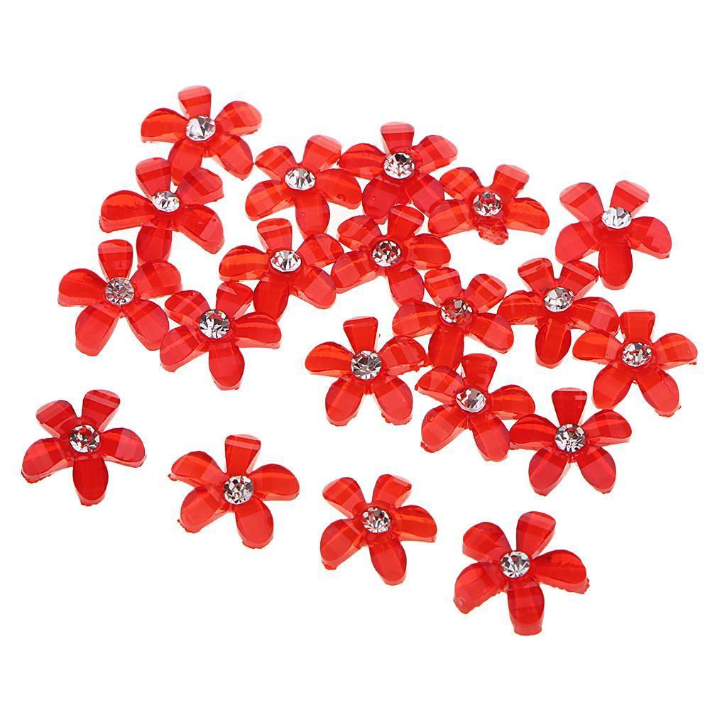 20-pcs-Blumen-Flatback-Perle-Strass-Flatback-Button-Kristall-Verzierung-Handwerk Indexbild 16
