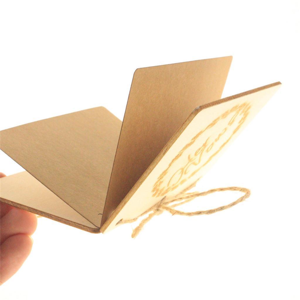 Indexbild 26 - Holz-Stueck-Holz-Tags-Zeichen-Unfinished-Hochzeit-Party-Favor-Geschenke-DIY