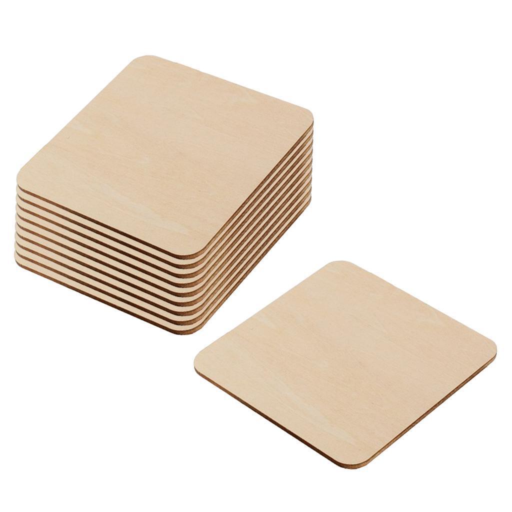 10er-Pack-Holzausschnitte-fuer-Basteln-DIY-Holz-Rechteck-Leere-Stuecke Indexbild 18