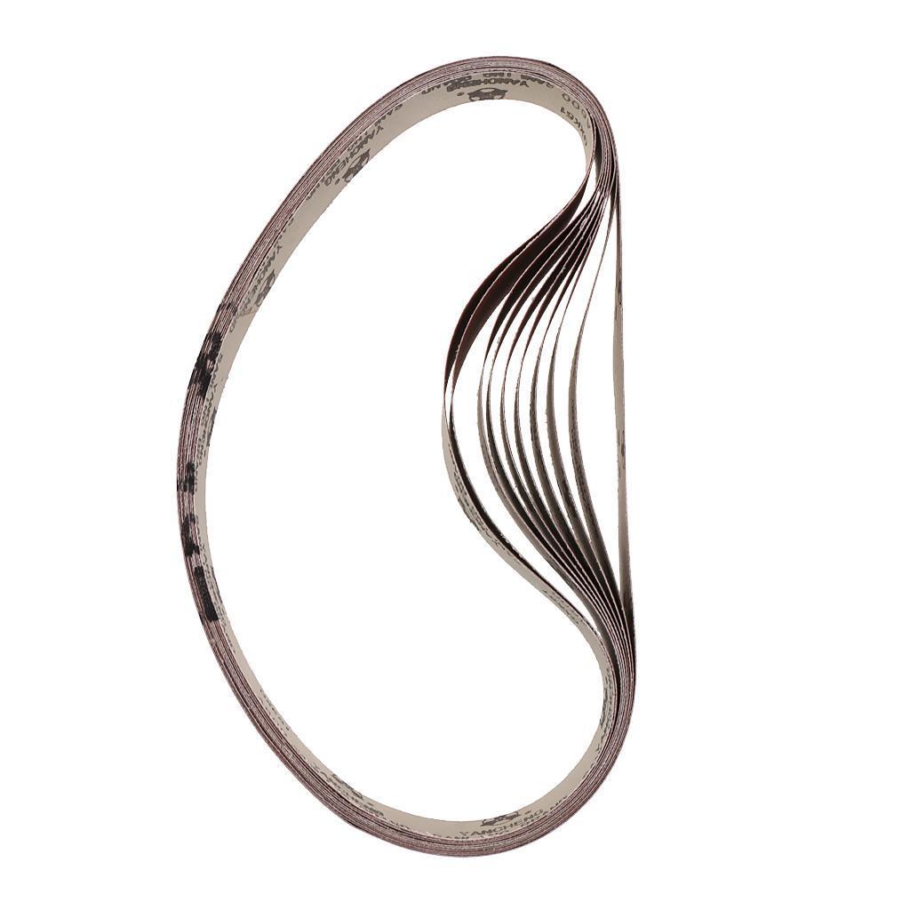 """Aluminiumoxid Polieren fein 10 Pack 1 /""""x 30/"""" Schleifgürtel natürlich"""