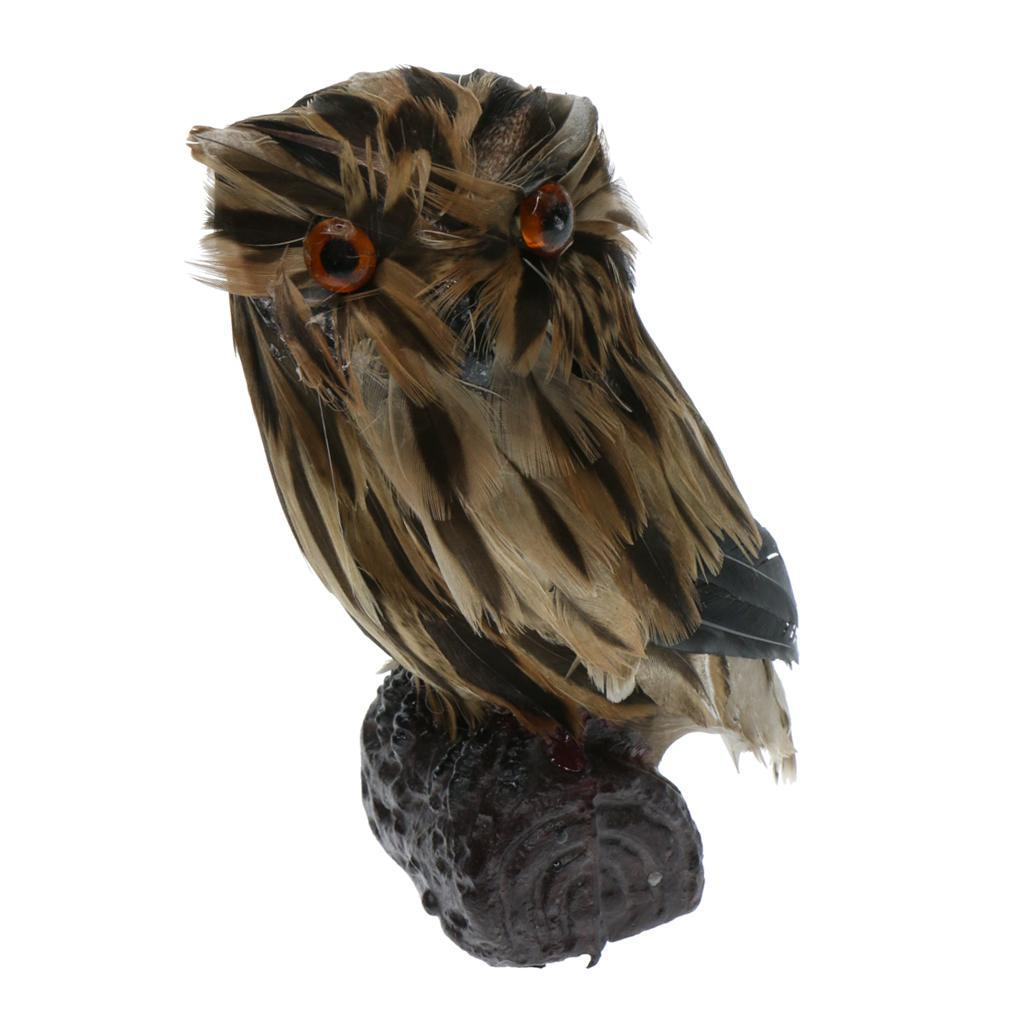 Artificial Owl Bird Feather Realistic Taxidermy Home ...
