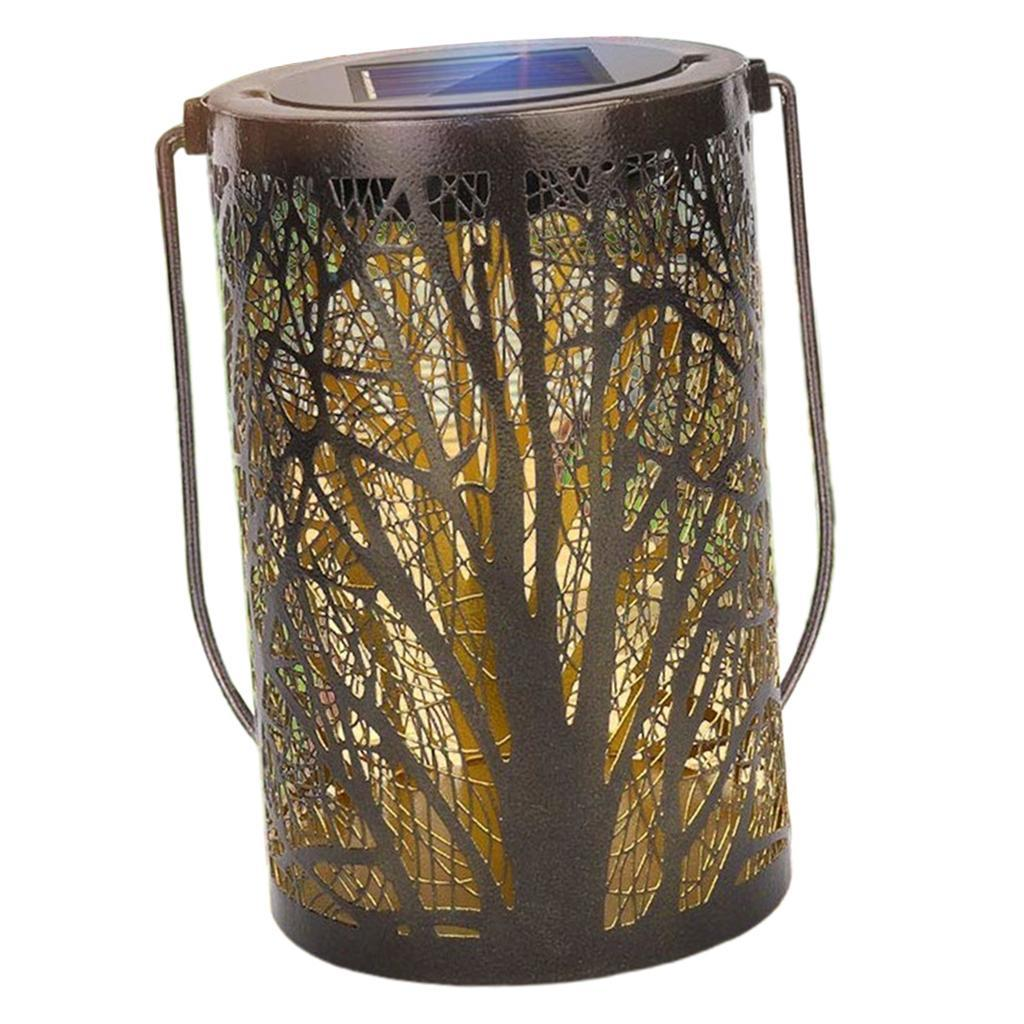 Lampe-etanche-De-Lanterne-Suspendue-Exterieure-Solaire-En-Metal-De-LED miniatura 7