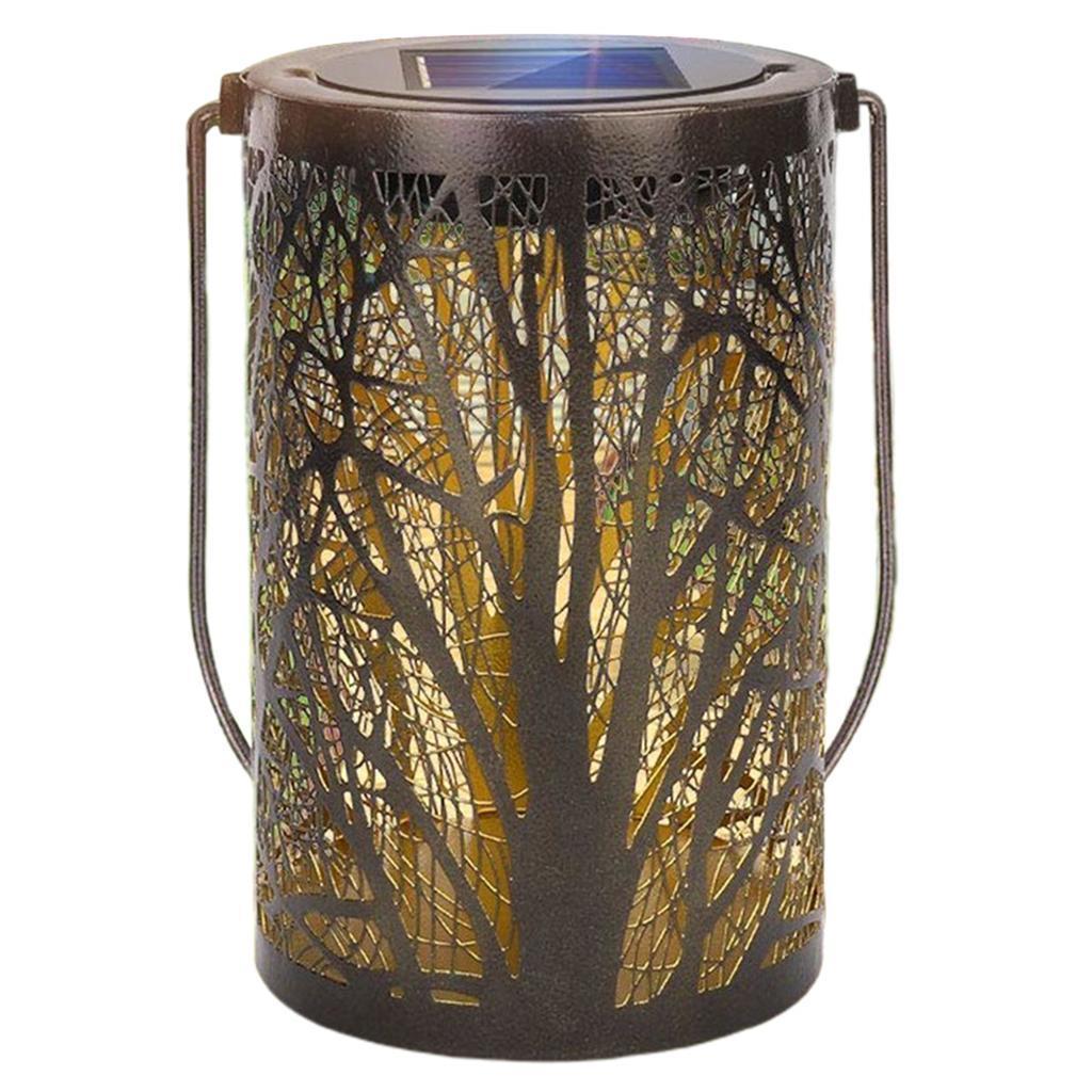 Lampe-etanche-De-Lanterne-Suspendue-Exterieure-Solaire-En-Metal-De-LED miniatura 5