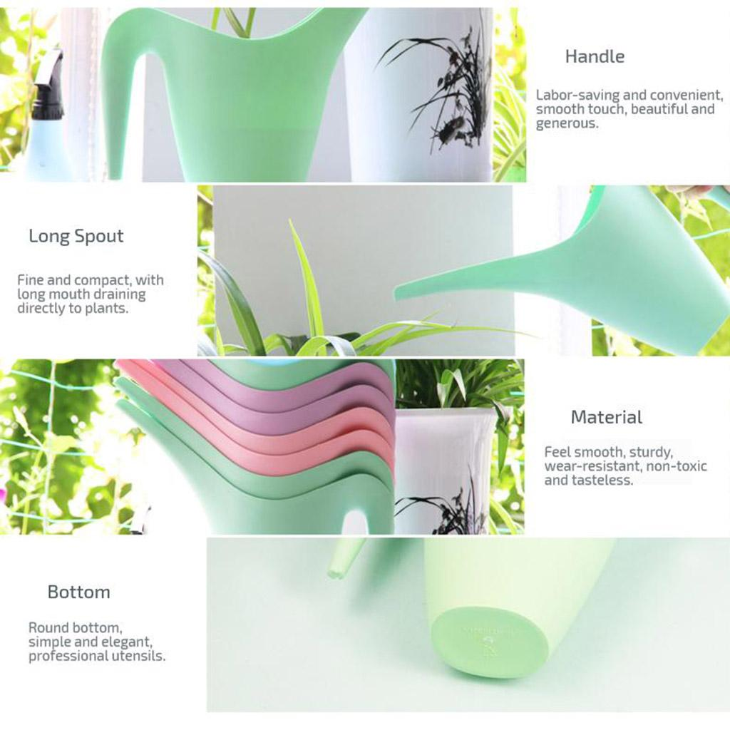 Handy Plastic Watering Can Household Indoor Plants Irrigation Watering Pot