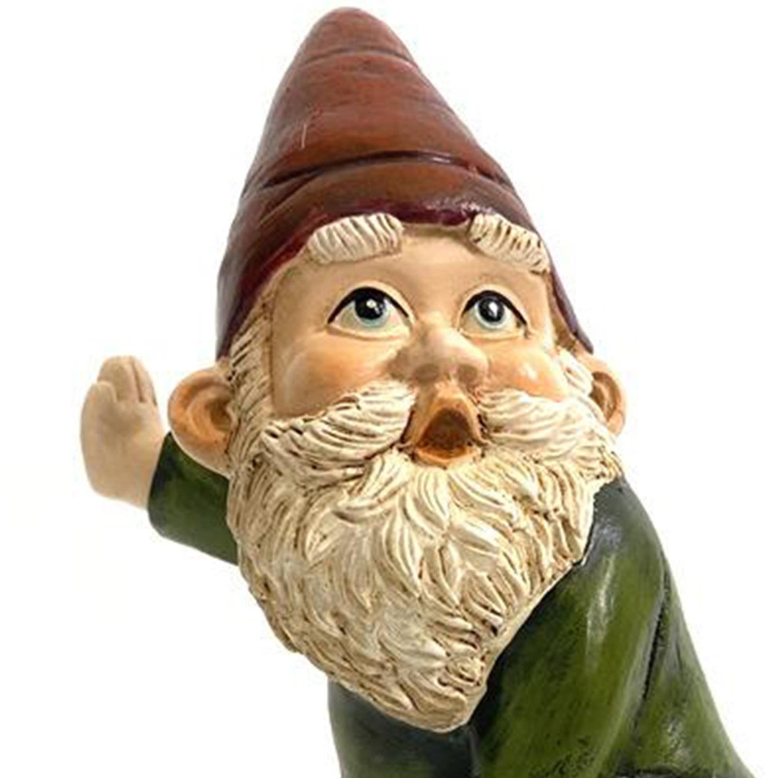 thumbnail 4 - Funny Resin Naughty Garden Gnome Statue Ornaments Villa Home Figurines