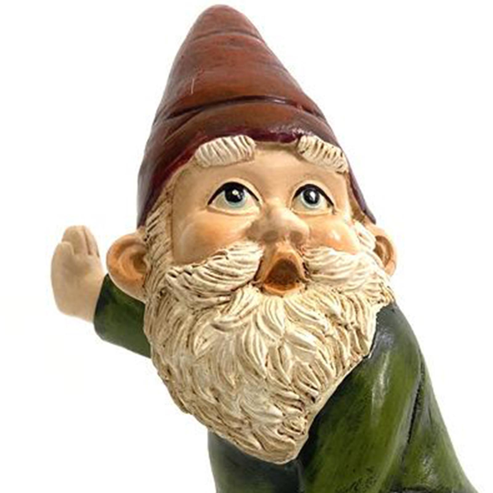 thumbnail 3 - Funny Resin Naughty Garden Gnome Statue Ornaments Outdoor Villa Home Figurines