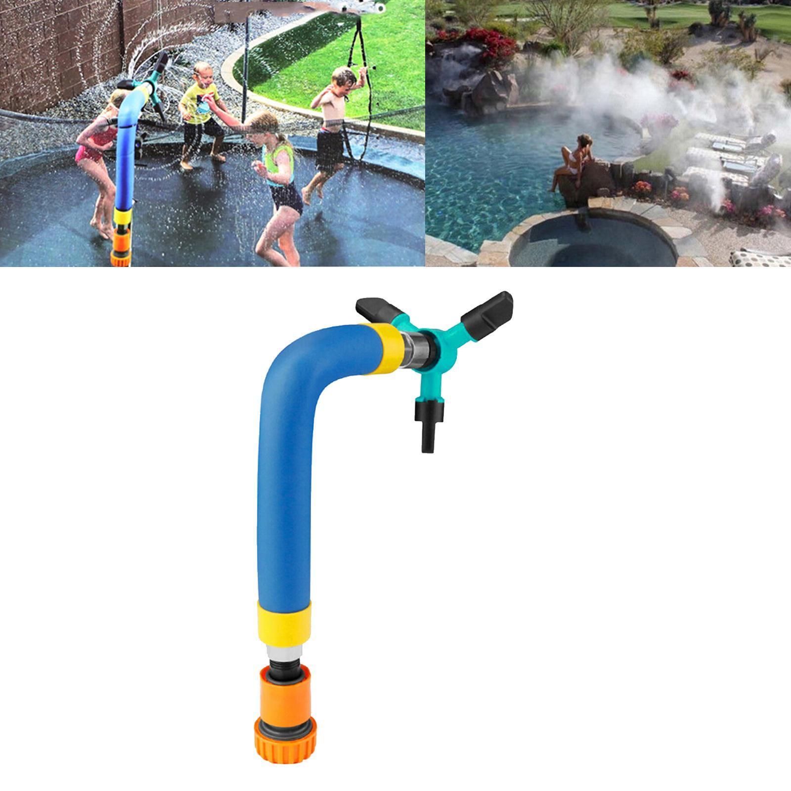 miniatura 5 - Trampolino di Acqua Sprinkler A Spruzzo Nebbia Giardino Estate Giochi