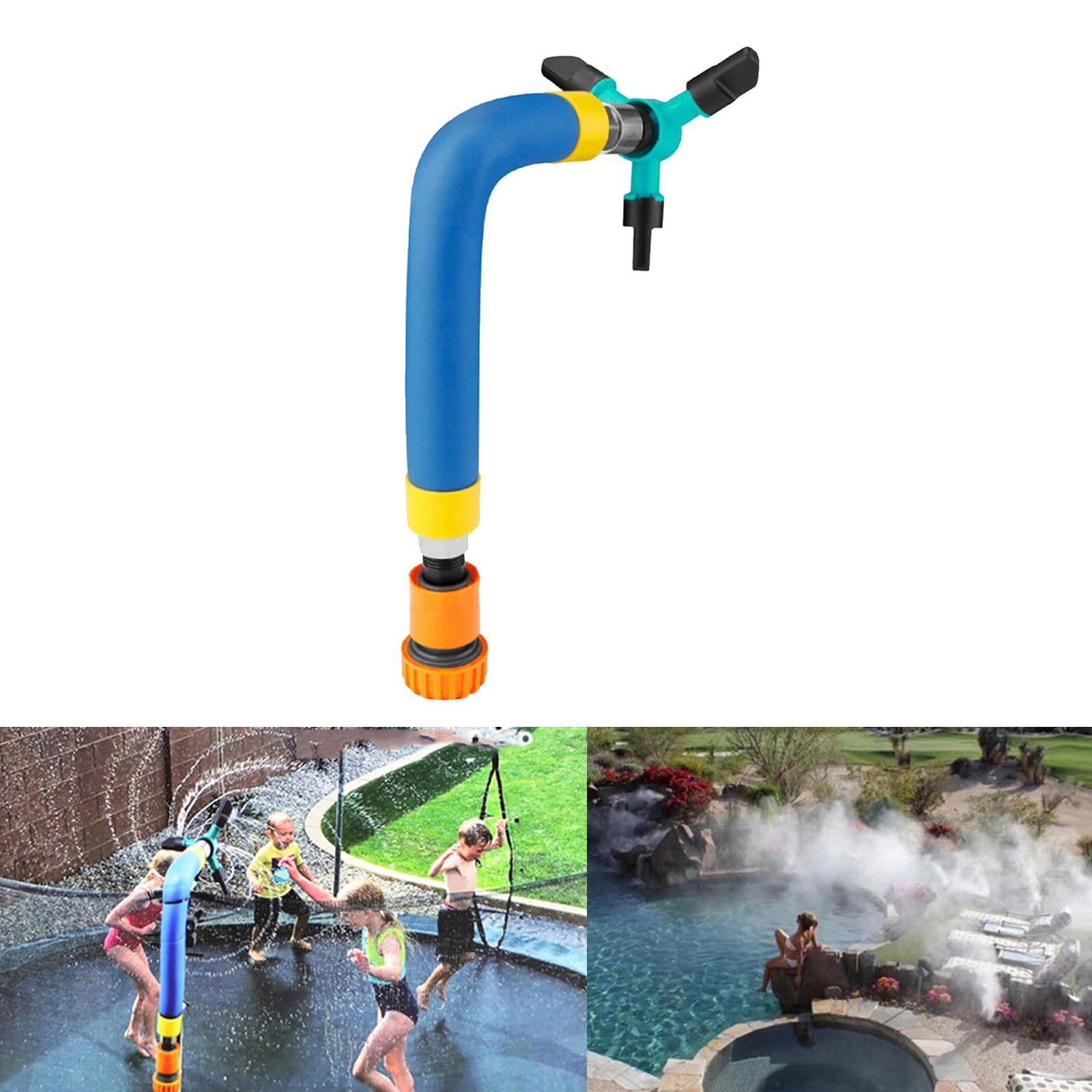 miniatura 6 - Trampolino di Acqua Sprinkler A Spruzzo Nebbia Giardino Estate Giochi