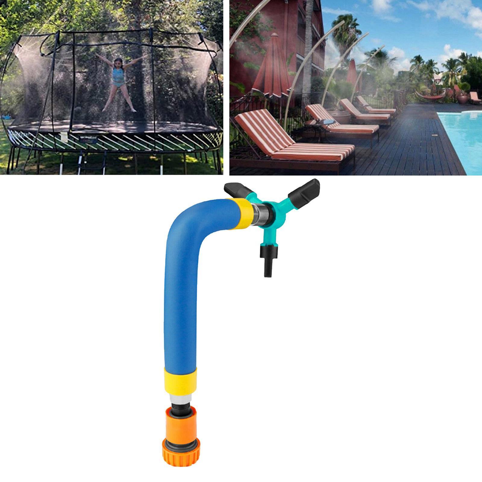 miniatura 13 - Trampolino di Acqua Sprinkler A Spruzzo Nebbia Giardino Estate Giochi