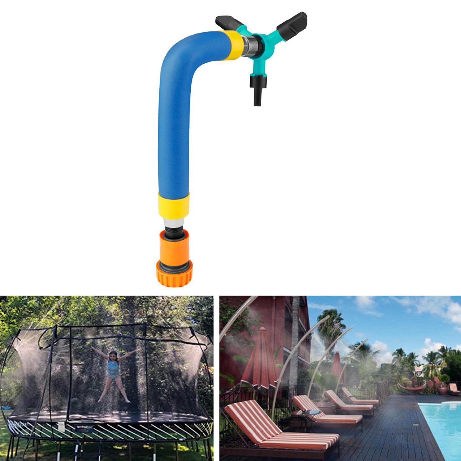 miniatura 3 - Trampolino di Acqua Sprinkler A Spruzzo Nebbia Giardino Estate Giochi