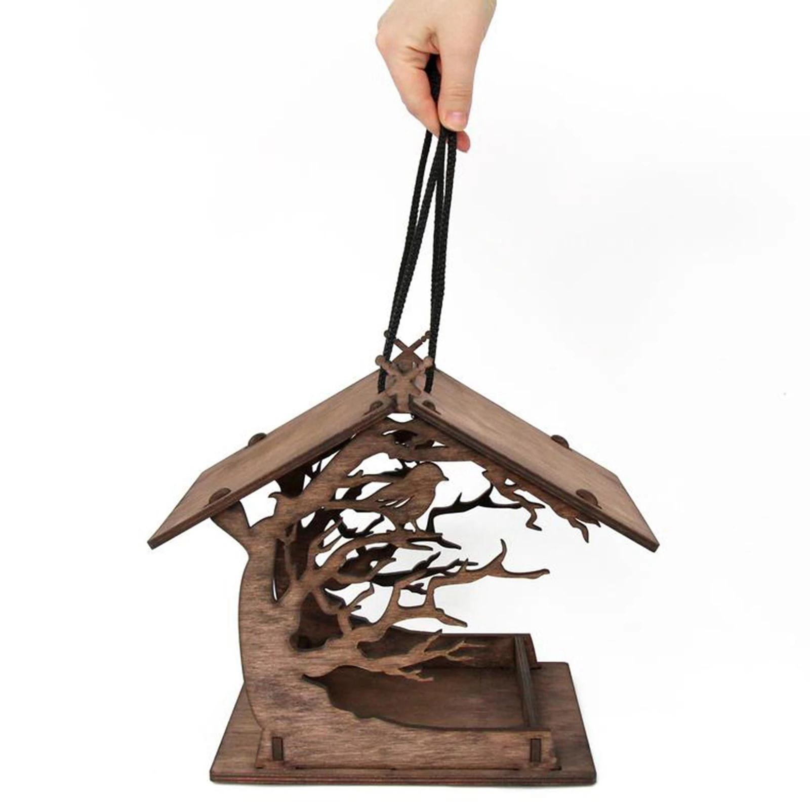 thumbnail 5 - Wooden Bird Feeder Balcony Ranch Decoration Ornaments Wildbird Essentials