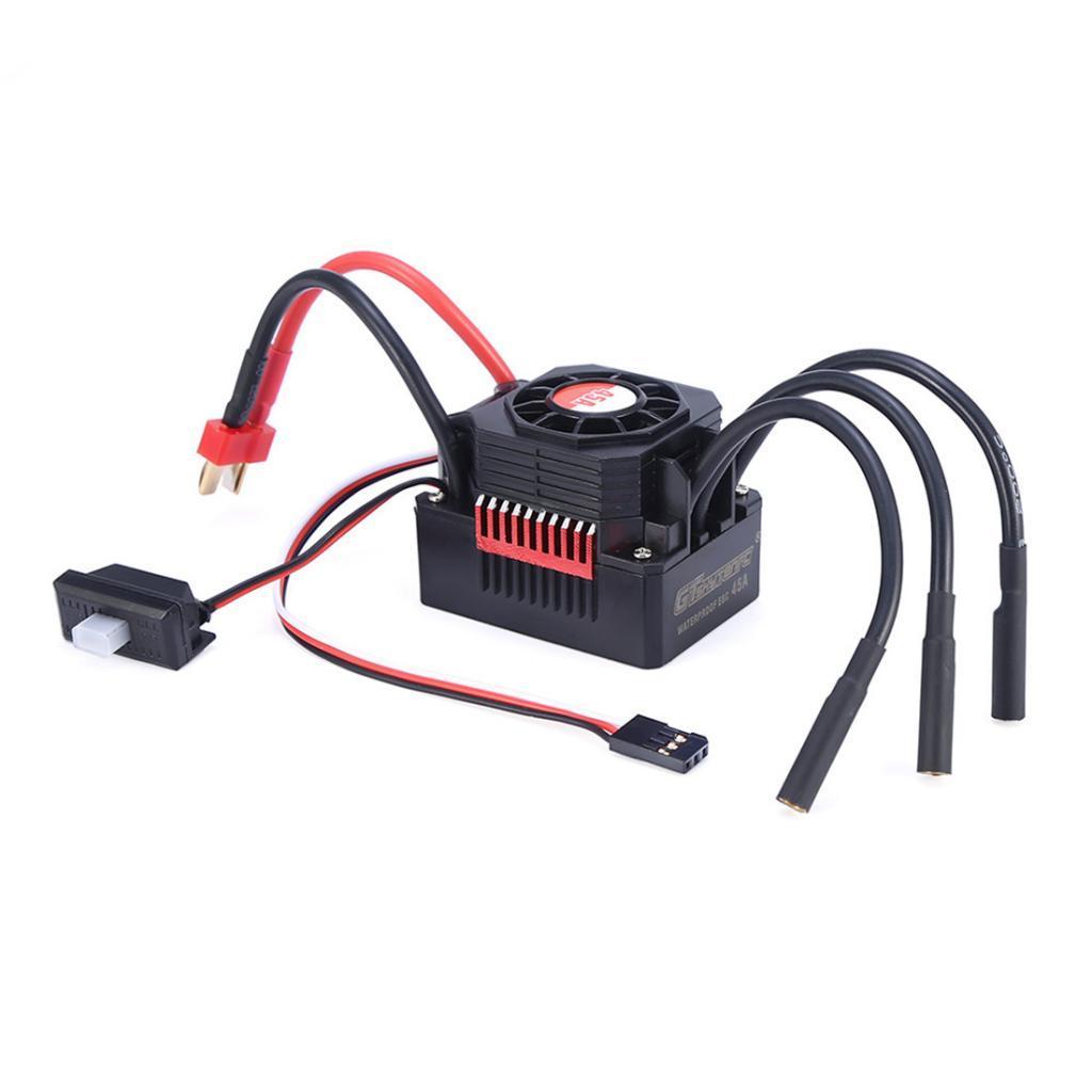 1pc-1-10-Brushless-Motor-Waterproof-45A-ESC-Set-for-1-10-RC-Car-Tamiya-Parts miniature 4