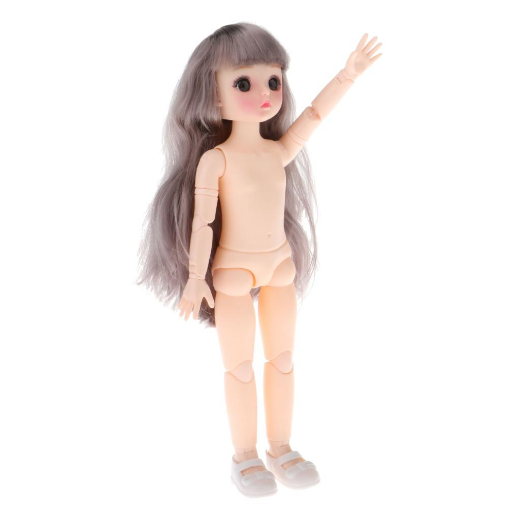 1-6-BJD-Doll-Body-3D-Big-Eyes-White-Skin-Girl-Dolls-Kids-Toys-DIY-Parts thumbnail 15