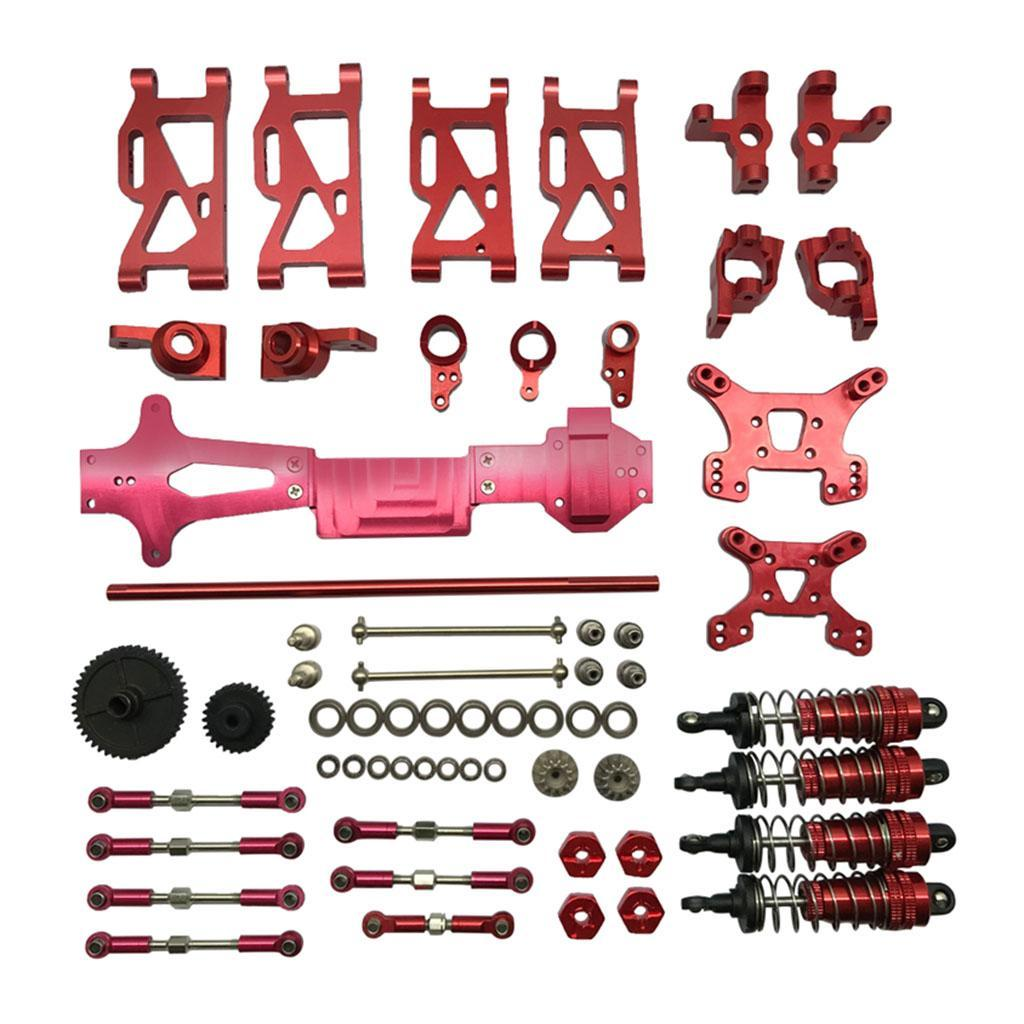 Moligh doll Upgrade Car Motor Metal Radiator Part for WLtoys 144001 1//14 4WD RC Off Road Car Parts Red