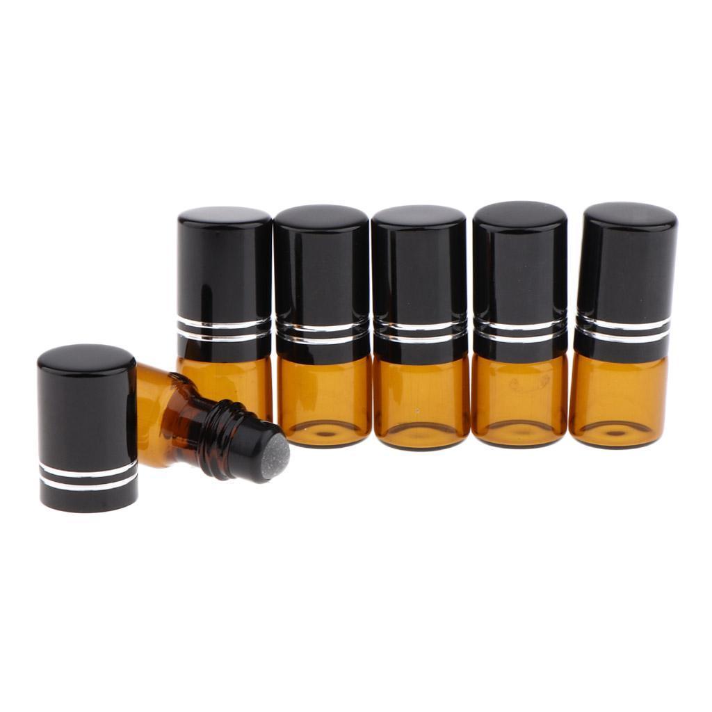 6-Stueck-Glas-Miniflaschen-Roller-Flaschen-Glasflaschen-Perfumflaschen-Set Indexbild 9