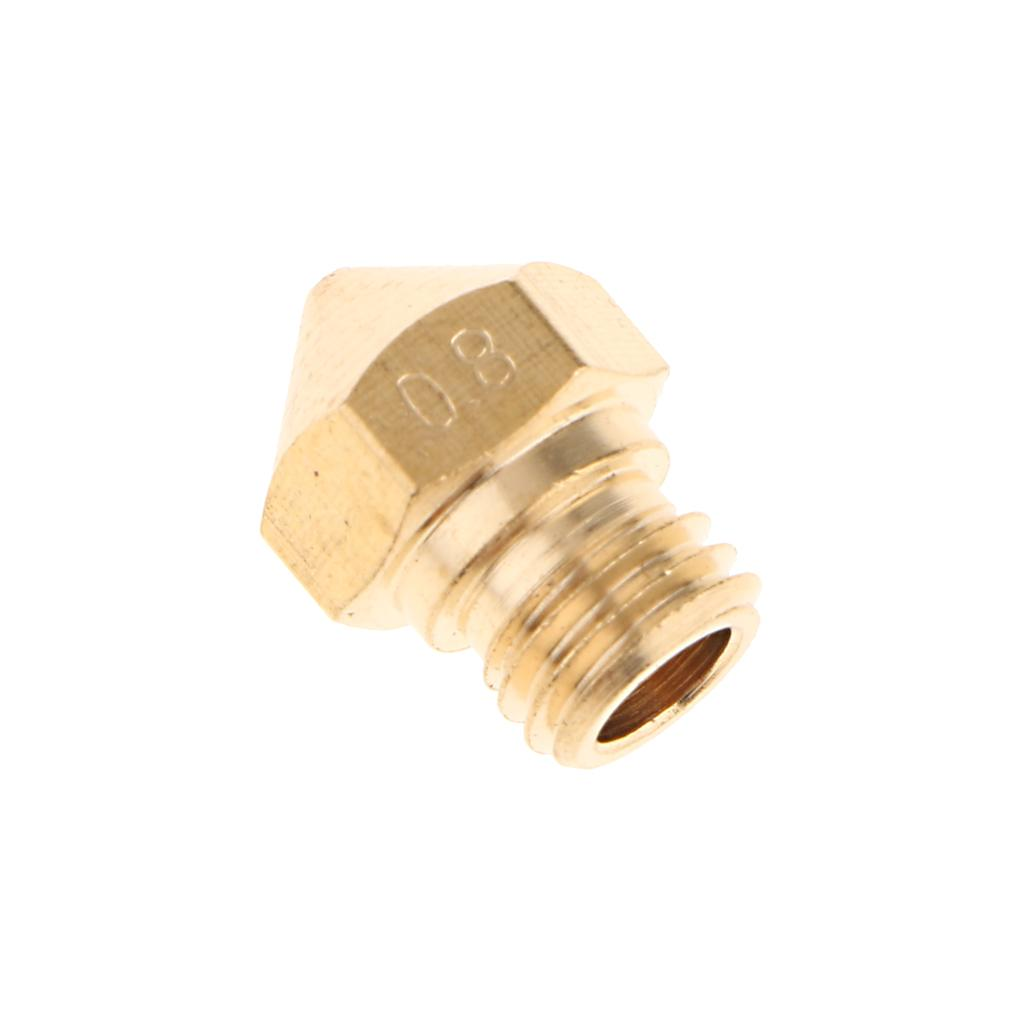 Extruder Nozzle Printhead Replacement for 1.75mm 3D Printer Parts 0.8mm