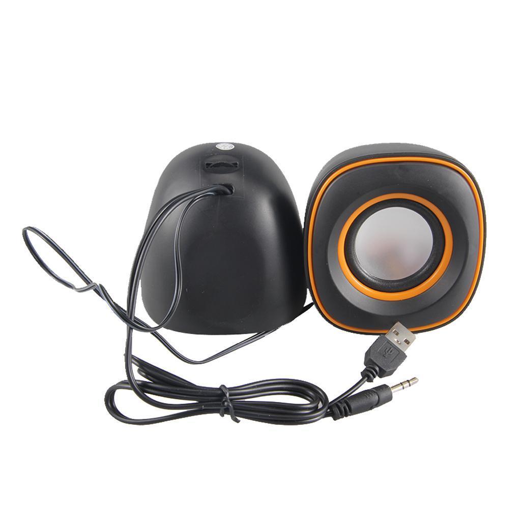 Tragbare-Computerlautsprecher-USB-faehige-Desktop-Mini-Stereolautsprecher Indexbild 9