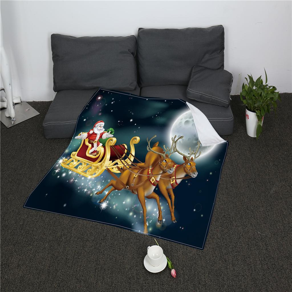 Doppel Fleece Decke Kuschelige warme Sofa Couch TV Überwurfdecke 80x150cm 2#
